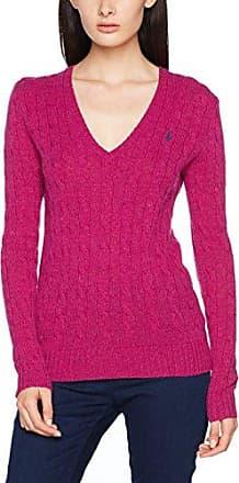 Ralph Lauren Kimberly-Classic-Long Sleeve-Sweater, Pull Femme, Rosa (Vibrant Pink Heather 2EOO), 42