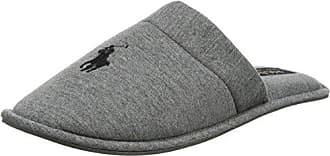 Polo Ralph Lauren Men's Heritage Scuff, Zapatillas de Estar por Casa para Hombre, Negro (Black/Grey Fleece 000), 41 EU
