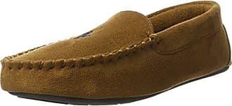 Mens Dezi II, Zapatillas de Estar por Casa para Hombre, Marrón (Chocolate Microsuede W/Cream PP 000), 42 EU Polo Ralph Lauren