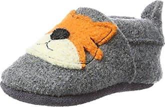 Pololo Wolli Tom, Zapatillas de Estar por Casa Unisex Niños, Gris (Grau 830), 20/21 EU