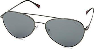 Prada Sport Herren Sonnenbrille 0PS50SS 7CQ5L0, Grau (Matte Gunmetal/Light Grey Black), 60