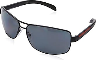 Prada Sport Herren Sonnenbrille 0PS04SS VHH1I0, Grau (Grey Rubber/Green), 54
