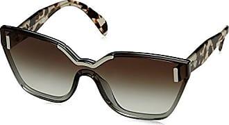 Prada Damen Sonnenbrille 0PR16TS 1AB5S0, Schwarz (Black/Grey), 48