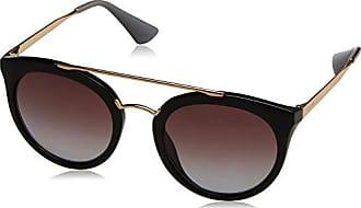 Prada Damen Sonnenbrille 0PR10TS 1AB5S0, Schwarz (Black/Grey), 52