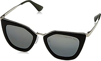 Prada Damen Sonnenbrille 0PR12QS 1AB1C0, Schwarz (Black/Light Brown Gold), 54