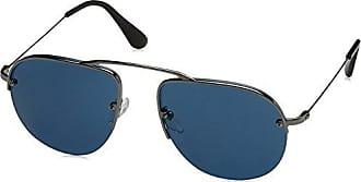 Prada Herren Sonnenbrille 0PR58OS 5AV1V1, Grau (Gunmetal/Blue), 55