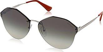 Prada Damen Sonnenbrille 0PR64TS 1BC4S1, Silber (Silver/Grey Silver), 66