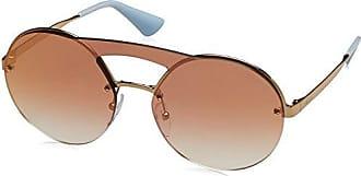 PRADA Prada Damen Sonnenbrille » PR 65TS«, goldfarben, ZVNODW - gold/braun