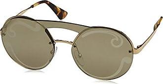 Para Mujer 0pr68ts Gafas De Sol Zvn5n2, Oro Pálido / Darkbrownmirgoldpolar, 63 Prada