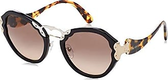 Prada Damen Sonnenbrille 0PR09TS 1AB3D0, Schwarz (Black/Brown Grey), 54