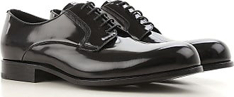Lace Up Shoes for Men Oxfords, Derbies and Brogues On Sale, Black, Leather, 2017, 10 Prada