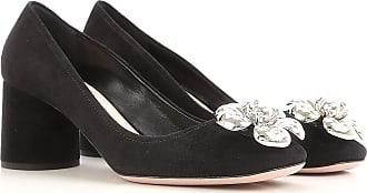 Zapatos de Tacón de Salón Baratos en Rebajas, Granate, Terciopelo, 2017, 35 36.5 37 38 39 Prada