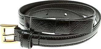 Belt for Women On Sale in Outlet, Black, Saffiano Leather, 2017, EU 70 cm - US/UK 28 in EU 75 cm - US/UK 30 in Prada