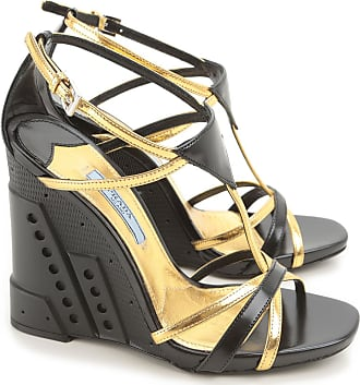 Wedges for Women On Sale in Outlet, Tobacco, suede, 2017, 2.5 3.5 6.5 Prada