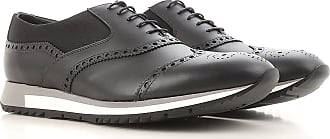 Lace Up Shoes for Men Oxfords, Derbies and Brogues On Sale, Black, Leather, 2017, 10 11 Prada