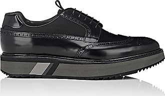 Lace Up Shoes for Men Oxfords, Derbies and Brogues On Sale, Dark Blue Ocean, Patent Leather, 2017, 6 7 7.5 8 Prada