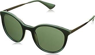 Prada Damen Sonnenbrille 0PR17SS UFU3O1, Grün (Green/Grey Green), 53