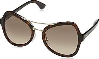 Prada Damen Sonnenbrille 0PR18SS UF34R2, Braun (Spotted Havana/Blue), 55