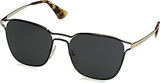 Womens 0Pr57Ts Gaq6S2 Sunglasses, Black/Silver/Darkvioletmirrorsilver, 54 Prada