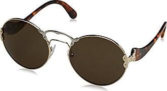Prada Damen Sonnenbrille 0PR55TS ZVN5J2, Gold (Pale Gold/Silver/Brown), 57