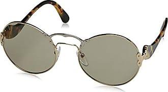 Prada Damen Sonnenbrille 0PR52US C3O3D0, Braun (Gold/Opal Spotted Brown/Light Brown Light Grey), 37