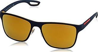 Prada Sport Herren Sonnenbrille 0PS56QS VHM5N0, Blau (Orange), 56
