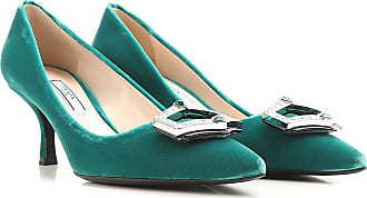 Pumps & High Heels for Women On Sale, Larch Green, Velvet, 2017, 2.5 5 6 6.5 Prada