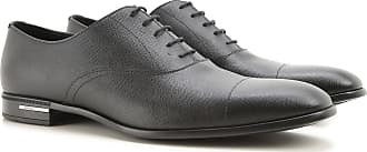 Lace Up Shoes for Men Oxfords, Derbies and Brogues On Sale, Asphalt, Leather, 2017, 8 Prada