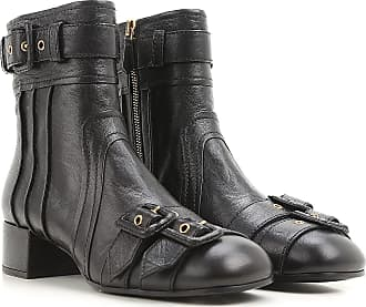 Boots for Women, Booties On Sale, Ink Blue, Leather, 2017, 3.5 7.5 Prada