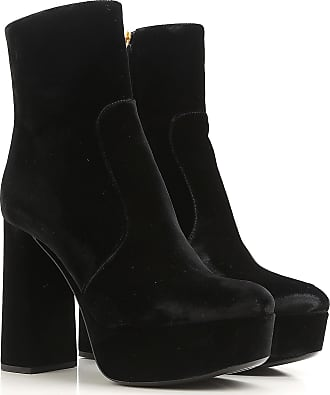 Boots for Women, Booties On Sale, Black, Leather, 2017, 2.5 4 4.5 Prada