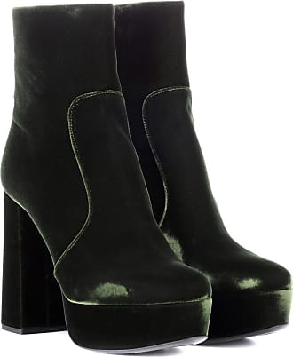 Boots for Women, Booties On Sale in Outlet, Black, Suede leather, 2017, 6.5 Prada