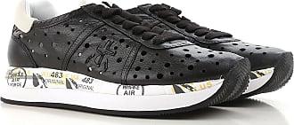 Sneaker für Damen, Tennisschuh, Turnschuh Günstig im Outlet Sale, Silber, Leder, 2017, 38 Premiata