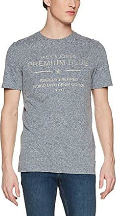 Jack & Jones PREMIUM JPRJOE TEE CREW NECK - Camiseta print - navy blazer melange mMSioP4