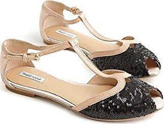 Damen Schuhe mit Riemchen, mehrfarbig - schwarz / weiß - Größe: 36 Pretty NanÃ
