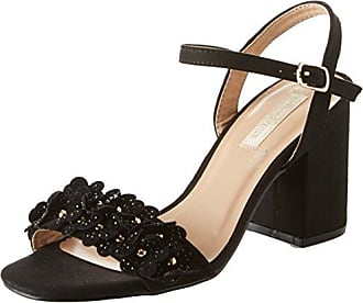 Chanel, Zapatos con Tacon y Correa de Tobillo para Mujer, Negro (Nero 112110613MFNERO), 38 EU Prima Donna