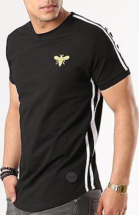 Recommander Pas Cher Tee Shirt Oversize Bandes Brodées 88181127 Noir BlancProject x Réduction Populaire qmFRwe