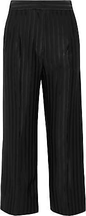 Protagonist Woman Cropped Striped Satin-jacquard Wide-leg Pants Black Size S Protagonist Discount Amazing Price Cheap Manchester Great Sale Clearance Online Official Site IVIu1E