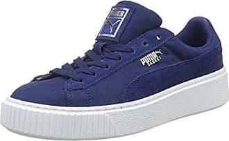 Puma Vikky Platform, Damen Sneaker Black Black 37 EU, Blau - Baja Blue-Smoky Grape - Größe: 35.5 EU