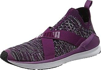 Puma Damen Fierce Evoknit Hallenschuhe, Violett (Dark Purple-White), 36 EU