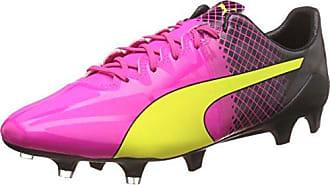 Puma EvoPower 3.3 Tricks FG, Herren Fußballschuhe, Pink (Pink glo-Safety Yellow-Black 01), 41 EU (7.5 Herren UK)