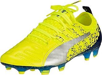 Puma Evopower Vigor 1l Graphic FG, Chaussures de Football Homme, Jaune (Safety Yellow-Silver-Blue Depths), 40 EU