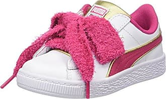 Puma Minions Basket Heart Fluffy Inf, Zapatillas para Niñas, Blanco (Puma White-Beetroot Purple-Puma Team Gold), 24 EU