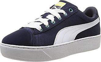 Smash Nubuck - Sneakers Basses - Mixte Adulte - Bleu (Peacoat/White 01) - 40.5 EU (7 UK)Puma qZsVMX2