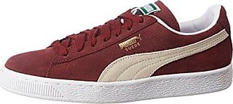Suede Classic+, Unisex Adults Low-Top Trainers, Red (Burgundy/White 75), 8 UK (42 EU) Puma