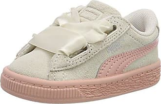 Puma Suede Heart Jewel Inf, Zapatillas para Niñas, Blanco (Whisper White-Peach Beige), 27 EU