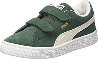Puma Suede Classic Jr, Sneakers Basses Mixte Enfant, Vert (Pineneedle White), 39 EU