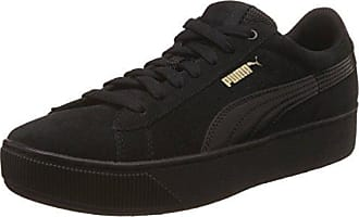 Puma Damen Vikky Platform Lthr P Sneaker, Schwarz (Black-Metallic Gold), 36.5 EU
