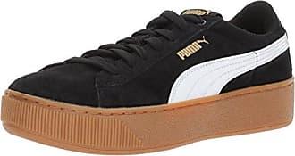 Puma Vikky Platform, Damen Sneaker Black Black 37 EU, Schwarz Black White - Größe: 36 EU