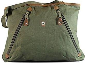 HF-0022 Hanf Baumwolle Shopper Bag H42,5 x B40 x T14, Khaki Pure