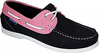 QUAYSIDE Alderney Portugiesisch Damen Leder Bootsschuhe Marineblau/Rosa EU 39 7V68sbVa